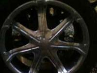 i have two 20' rims with new tires95% very nice fit gm