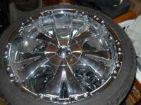 "I have for sale 20"" rims with brand new tires, five"