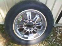 THESE RIMS ARE VERY NICE AND THE TIRES HAVE A LOT OF