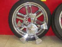 "20"" RIMS WITH SPINNER SET OF 4 (CASH PRICE $300.00) LOW"