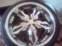 20' Starr rims & new tires. Low profile tires. 5 lug