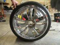 "NEW PRICE...... I have a full set of Crome 20"" rims It"