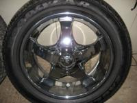 Set of 20 inch rims & tires for sale. Basically