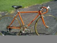 "20"" Sunset Orange 10 speed Schwinn Varsity, 2 good"