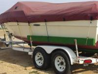 1983 Sea Ray runabout. 20' with tandem axial trailer.