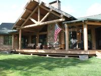 Custom 3 bed, 2 bath log home situated along the banks
