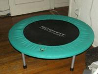 Sports Authority Bodyfit Trampoline has small tear in