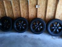 4 P265/50R/20's with awesome flat black rims for sale.