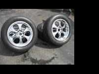 305/50/20 BF Goodrich tires with Helo rims - to fit GM