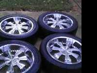 "Set of used 20"" Verde Wheels with 275/45/30 Tires Took"