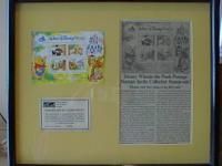 Walt Disney World Florida WINNIE THE POOH Framed Stamps