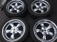 "I have 20"" 5 LUG chrome wheels and tires  Chevrolet"