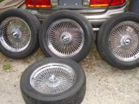"Up for sale is a set of 20"" Wire Spoke Rims..These have"