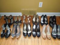 12 Pairs of Women's Heels. Great condition! Price