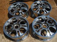 Up for sale right here we have a set of 20 x 8 chrome