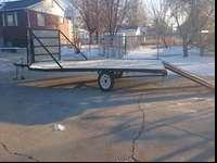 his is a trailer is terrific for snowmobiles or atvs.