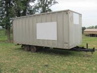 THIS IS A 20 X 8 X 8 BOBTAIL BOX TRAILER ON TRAILER