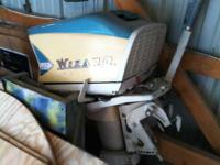 1960s wizard 25hp outboard, looks like new turns over
