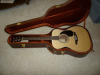 A beautiful 40 inch long Alvarez Acoustic Guitar + case