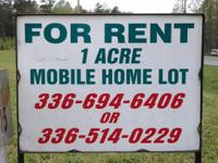 BEAUTIFUL ACRE LOTS FOR RENT FOR SINGLE AND DOUBLE