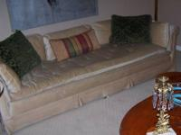 Very comfortable, down-filled sofa and loveseat with