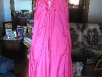 Size 12 Fuschia pink prom dress. Corset back. Only wore