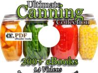 Over 200 eBooks on canning, preserving, drying meats,
