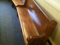 They are beautiful 12 foot pews with hymnal racks