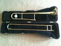 Conn Bb trombone, including molded (hard) case,