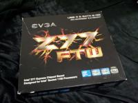 EVGA Z77 FTW (LGA1155) Motherboard with original box,