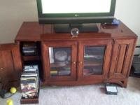 Entertainment center console for sale. Good solid,