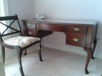 Queen Anne Desk and Chair Middle drawer is a pull-out