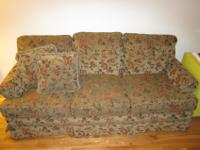 Gently used Clayton Marcus sofa, tapestry-style