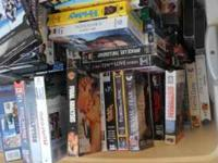 I am seling just over 200 Vhs movies. We just dont