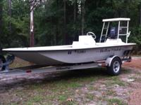 2000 17T Pathfinder boat with Tunnel Hull, 60 horse