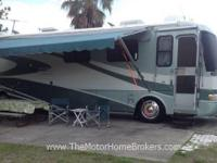 Model 390 XL with slide-out. A nice highline coach with