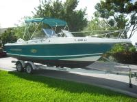 BOAT HAS  174 HORSE JOHNSON OUTBOARD  THREE FISH BOX, A