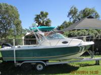This 2004 Aquasport 215 Explorer walkaround with