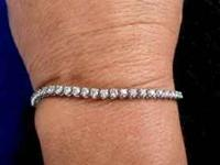 Platinum Diamond Tennis Bracelet recently appraised for