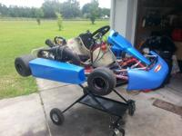 I'm selling my Birel chassis because I'm moving to a