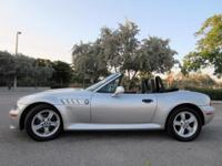 This 2000 BMW Z3 2.3 Convertible has a Gorgeous SILVER