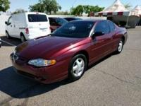 Just Reduced! CARFAX One-Owner. 2000 Chevrolet Monte