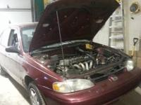 This is a 2000 chevy prizm for parts the motor is