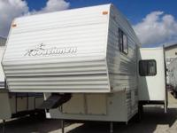 2000 Coachmen 279 Fifth Wheel. Rear kitchen with oak
