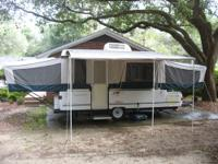 Top of the line Coleman tent trailer by Fleetwood.