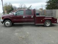 2000 Ford F450 Lariat Crew Cab 4x4 Diesel w 2007 Front.