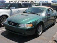 SPORTY METALLIC GREEN FORD CONVERTIBLE AT A BARGAIN