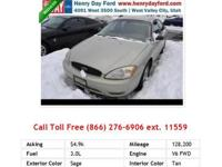 2000 Ford Taurus SES SES Sedan White V6 3.0L Flexible