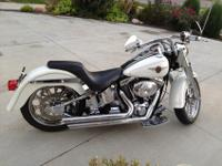 I have for sale a 2000 Harley Fatboy, it is pearl white