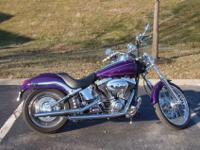 2000 Softail Deuce updated with Harley chrome parts
